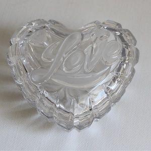 Lovely Mikasa Crystal Love Heart Trinket Box